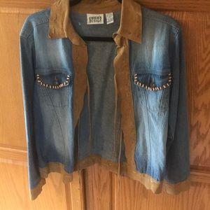 Chicos Women's Jean Coat size 0